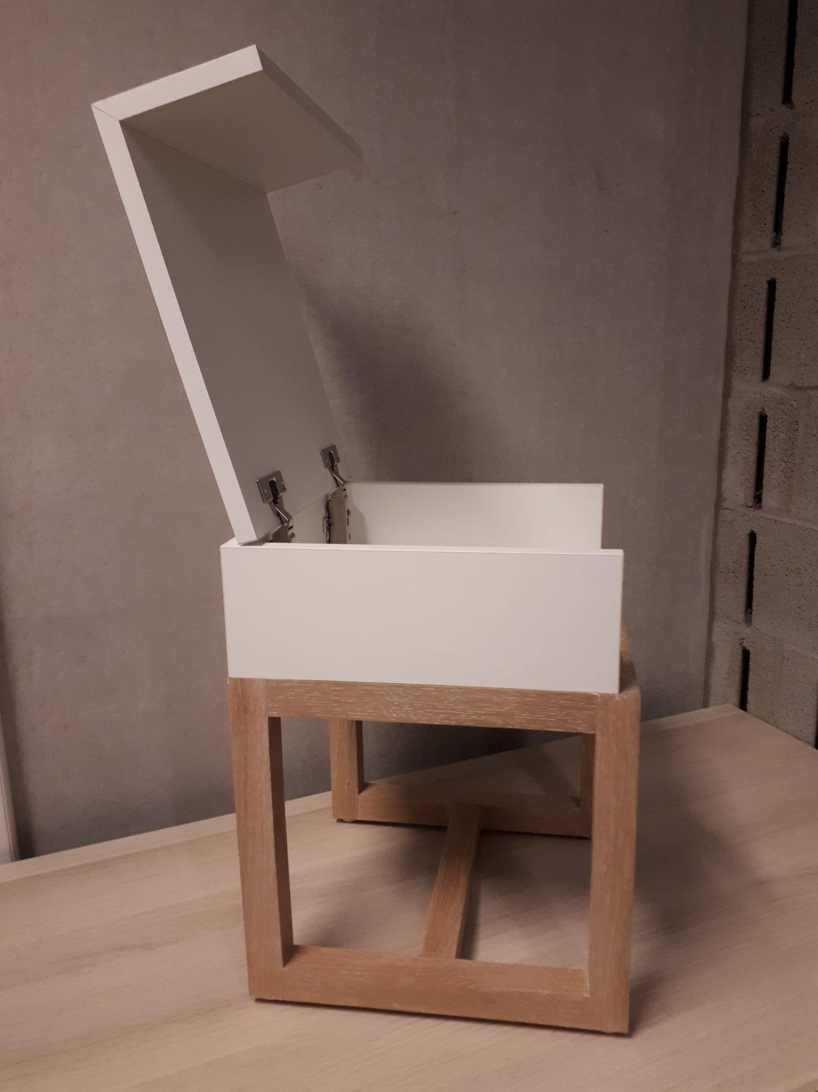 Een uniek opbergsysteem ontwikkeld door de leerlingen van Houttechnieken