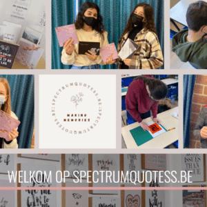 Leerlingen 2A&B lanceren pop-up store 'Spectrumquotess'